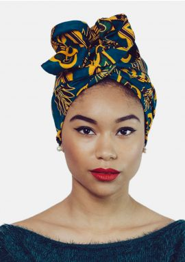 Wire headwrap - African print - TAINA