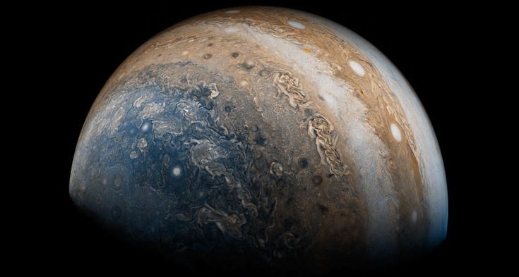 NASA's Juno spacecraft has sent back unexpected details about Jupiter, giving scientists their first intimate look at the giant planet.