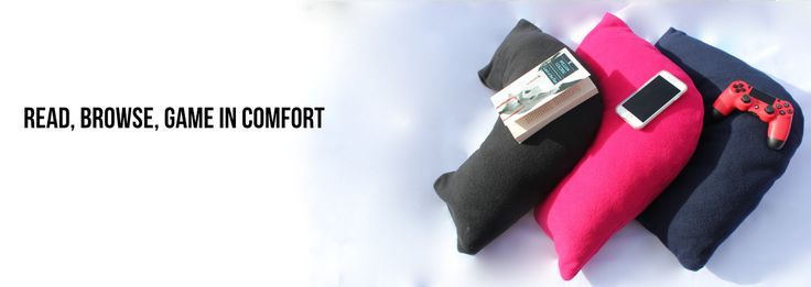 The ComfortCurv Pillow elevated hands and book for better support and comfort. A fleece slip cover in 4 (four) colours. Get yours today!! FREE SHIPPING IN CANADA AND USA
