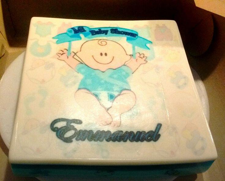 Una gelatina en degradado de azules para la llegada de tu bebé! Totalmente personalizada!