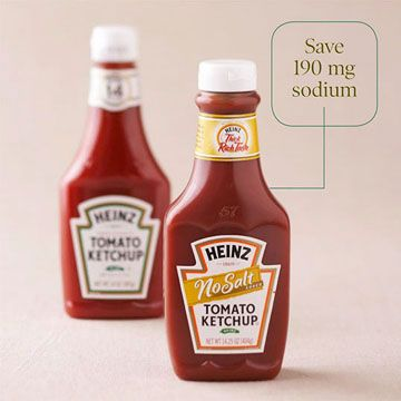 no salt ketchup --  I'll have to look for this for Grandma