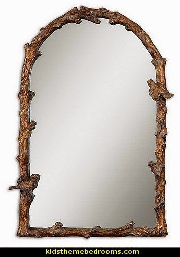 gives me the idea to get dollar store mirrors and frame them with branches