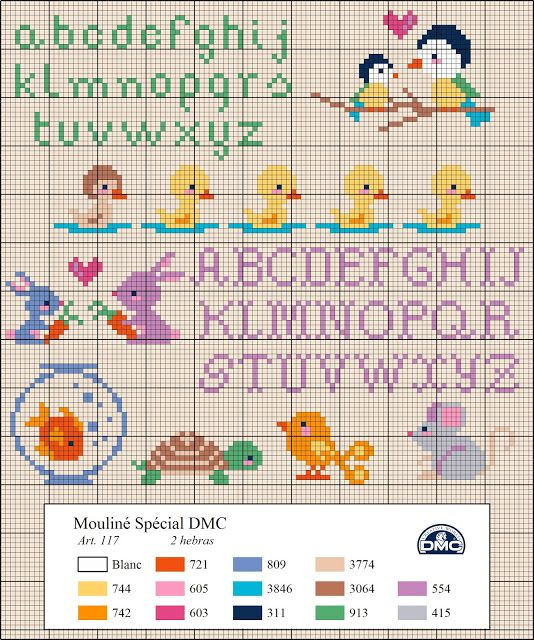 El blog de Dmc: Diagramas de mascotas - cross stitch pet diagram