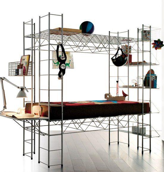 Steel #bed ABITACOLO by @Rexite   #design Bruno Munari