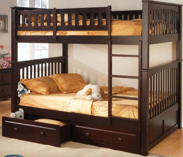 Furniture, Elegant And Brown Design Of The Adult Bunk Bed With The Neat And Great Furniture Arrangement With Brown Bed Cover Also Dog Doll With Locker And Storage With Small Cabinet With Flower Vase ~ The Comfortable And Elegant Designs Of Adult Bunk Beds