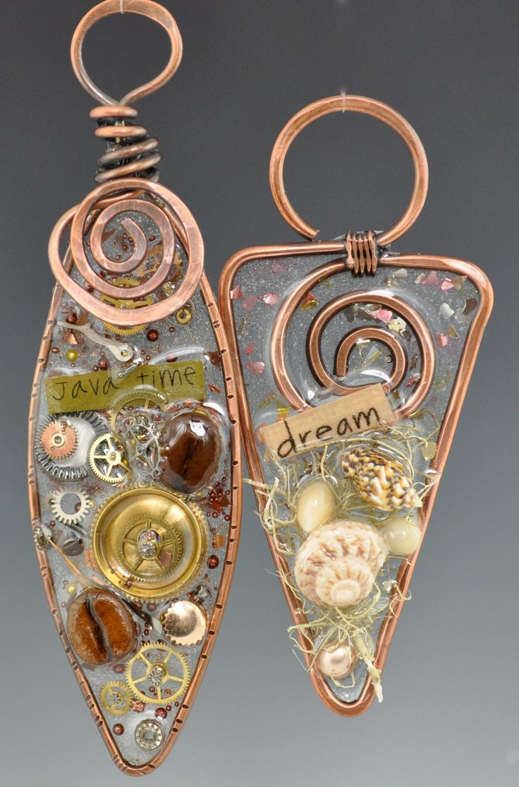 Resin-Wire Forms pendants