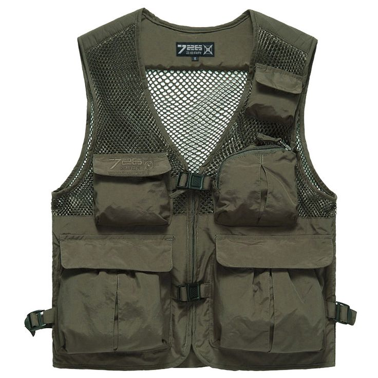 726 Men's Camping Vest Multi-Pocket Waistcoat Utility Fishing Gilet  726-02