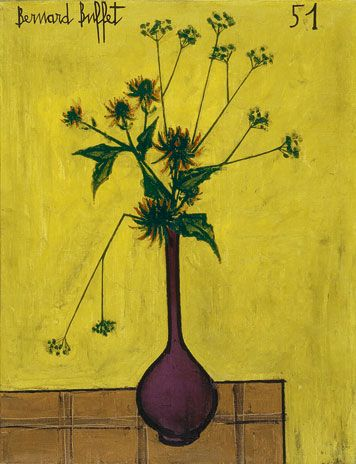 Bernard Buffet has an affinity for floppy flowers