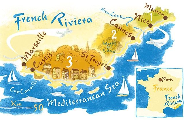 The French Riviera or Cote d'Azur is made up of many cities and it's easy to hop from one to the other!