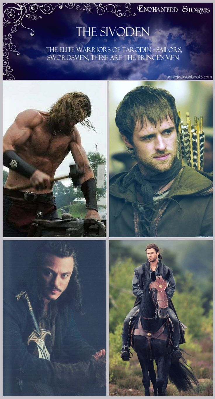 The Sivoden. Find out more in Enchanted Storms | photo credit: Vikings on History Channel, Jonas Armstrong as Robin Hood, Chris Hemsworth from The Huntsman: Winters War, Luke Evans as Bard in The Hobbit | Fantasy | Magical | Fairytale | Enchanting
