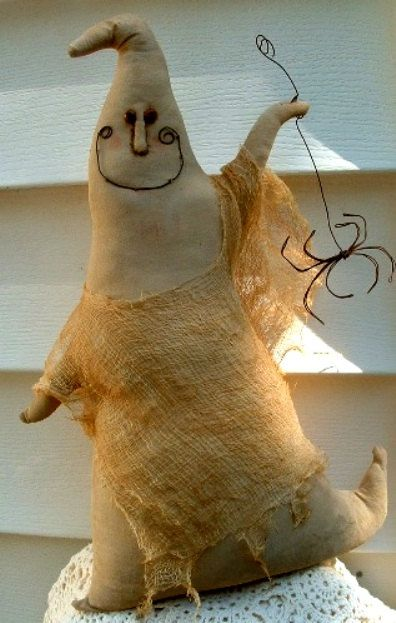 Primitive Folk Art Halloween Ghost Duncan the by PrimitiveArtDolls, $35.00