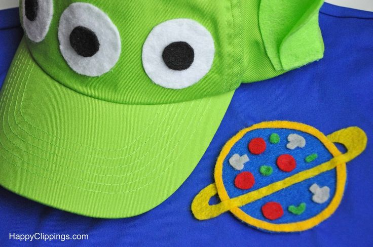 DIY Kids Toy Story Alien Costumes (Disney Halloween Costume) HappyClippings.com