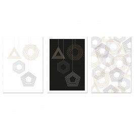 3 Weihnachtskarten mit geometrischen Formen von Held&Lykke #Christmascards #Weihnachtskarten #geometry