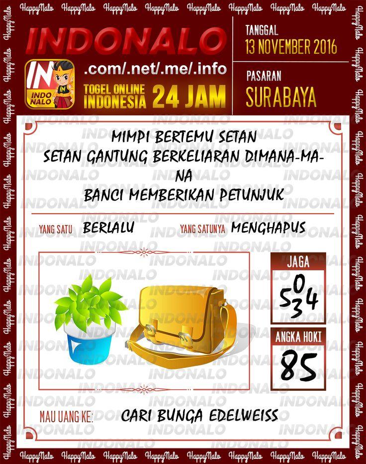 Angka Jaga 3D Togel Wap Online Live Draw 4D Indonalo Surabaya 13 November 2016