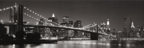 Brooklyn Bridge and Manhattan Skyline Posters by Graeme Purdy at AllPosters.com