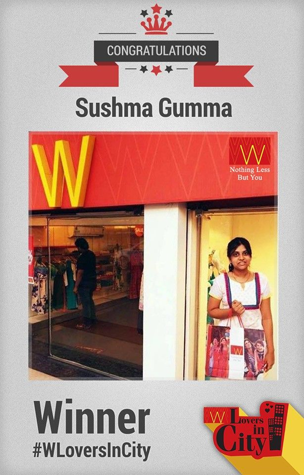 Here is our 2nd #Winner of #WLoversInCity.  Congratulations Sushma.  The contest is closed now. Thank you for participation.