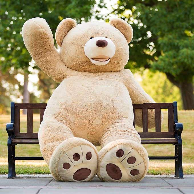 """93"""" Giant Plush Teddy Bear"""