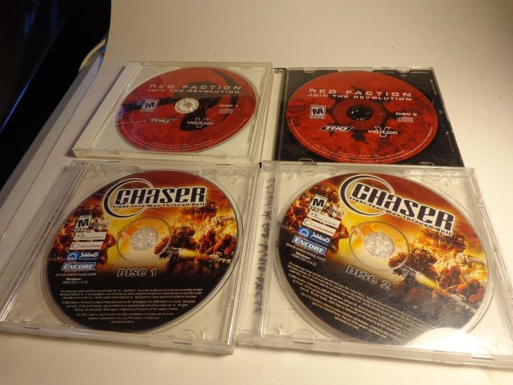 lot of 2 pc games red faction and chaser