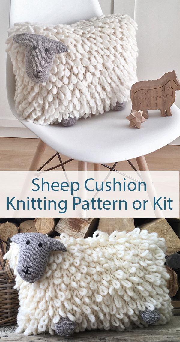 Terrific Knitting Pattern For Sheep Pillow Cover Knit In Chunky Wool Squirreltailoven Fun Painted Chair Ideas Images Squirreltailovenorg