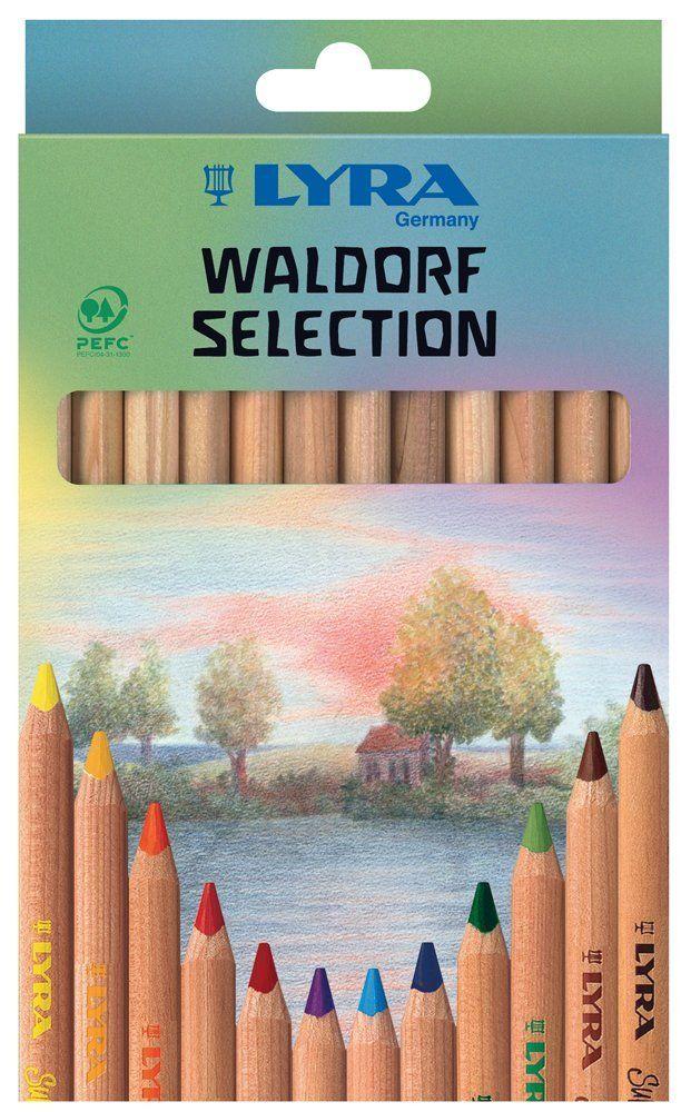 Lyra 3711121 - Super Ferby Farbstift natur, Waldorf Selection, Pappetui 12 sortierte Farben: Amazon.de: Spielzeug