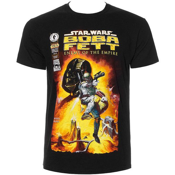 Star Wars Boba Fett T Shirt, Movie Tees, Star Wars Clothing UK (45 BRL) ❤ liked on Polyvore featuring tops and t-shirts