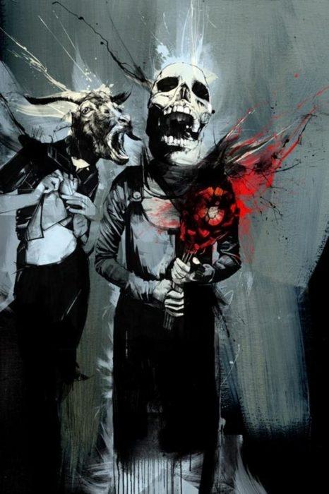 Russ Mills. #skull