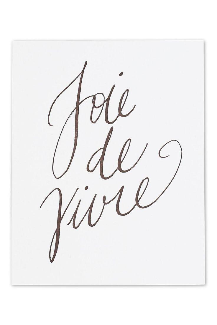 "Joie de Vivre means to express enjoyment of life. Measures 11"" x 14"".  Joie Vivre Print by Thimblepress. Home & Gifts - Home Decor - Wall Art Washington"