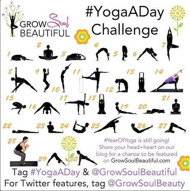 mes de yoga Débuts: Mes Défis de yoga verser Avril