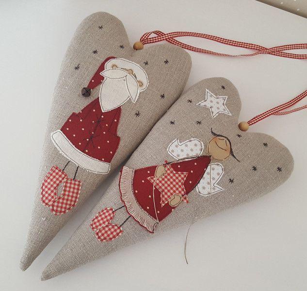Wohndekoration - XXL Herz Weihnachten Engel Landhaus - ein Designerstück von Feinerlei bei DaWanda