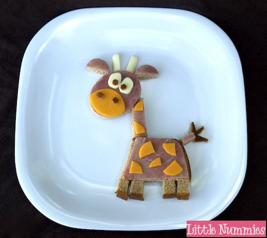 Giraffe sandwhich - kids fun creative snack food / bento