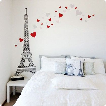 A lovely eiffle tour wall sticker that would be nice in Louisa`s room