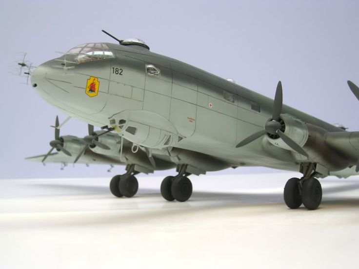 The model of JU 390 V2, converted from two Revell of Germany Ju 290s.