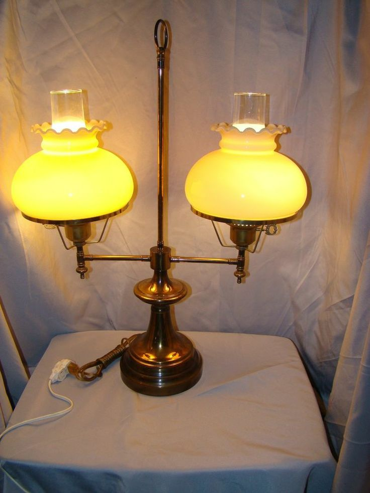 61 best student lamps 7 shades parts images on pinterest this double arm lamp looks great with any color or pattern of glass lamp shade aloadofball Image collections