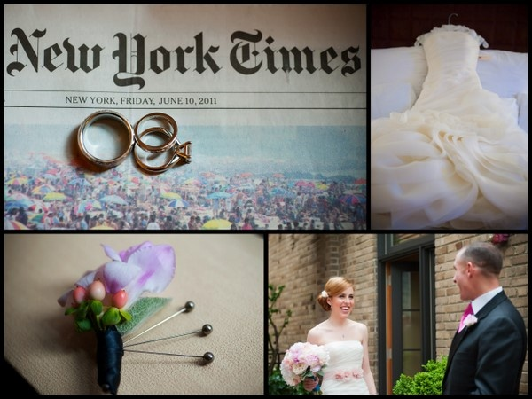 NYC Wedding ... LOVE the wedding bands on the New York Times on wedding day! :)