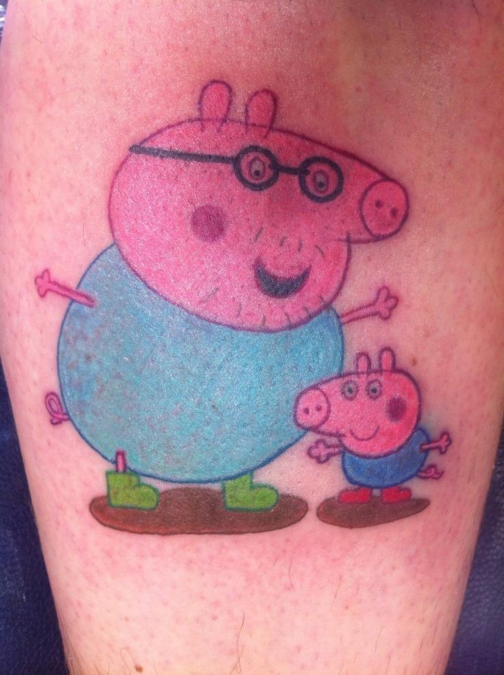 awwww my baby boys favorite show peppa pig tattoo daddy