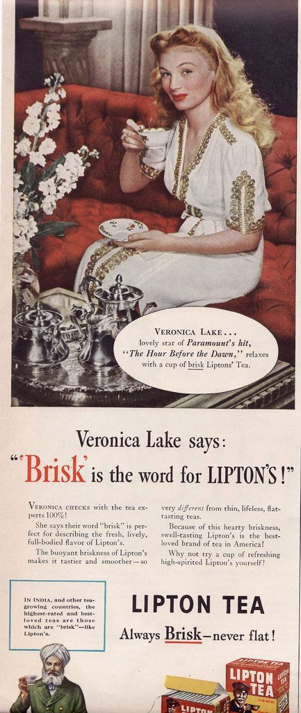 Veronica Lake - Lipton ad...my favorite brand