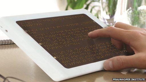Concept Braille e-reader