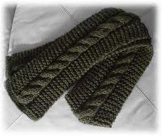 bufandas a dos agujas para hombres - Buscar con Google