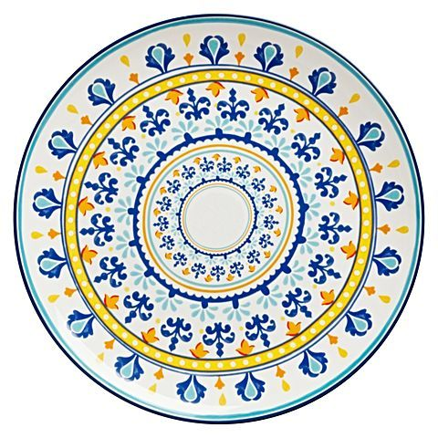 Present your best dishes in colourful style with the coastal inspiration on the Firenze Round Platter, 37cm from Casa Domani.