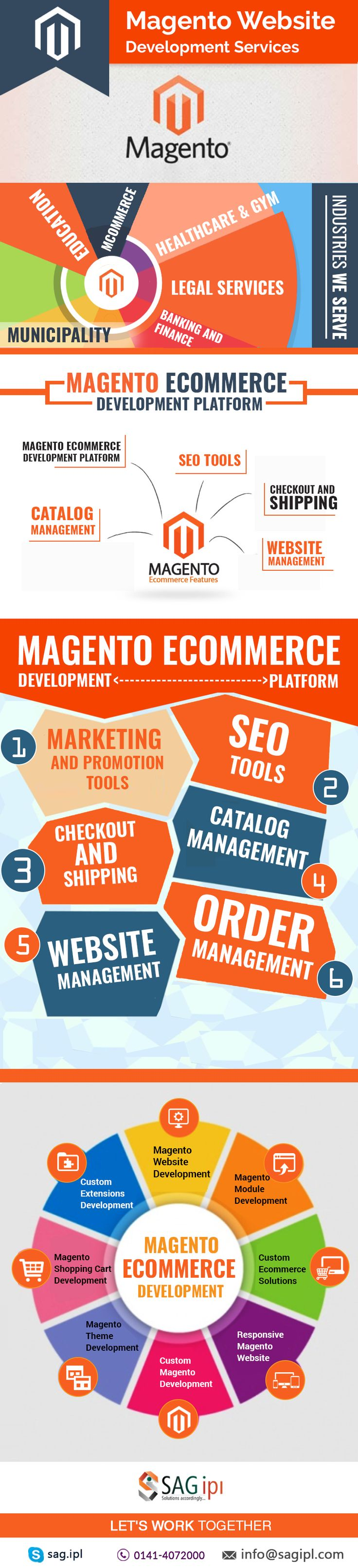 Magento eCommerce Development Company | SAG IPL    SAG IPL is Magento eCommerce Development Company which has 7+ years Experience in Magento Website Development. We offer Magento development services in the Worldwide.