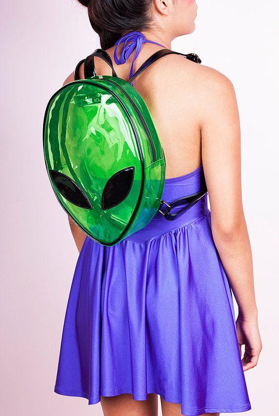 AS IS DISCOUNTED Alien Clear Green Backpack/ Vinyl/ by JUNKKYARD