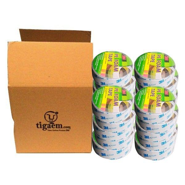 3M 1600T Double Coated PE Foam Tape (Double Tape) tebal (1.0 mm) size (24mm x 4m) (66 Roll) - Jual Merk 3M Paling Kuat & Murah. 3M™ 1600T Double Coated Foam Tape (Double Tape), 24 mm x 4 m (66 rolls in a box). http://tigaem.com/double-tape/1720-3m-1600t-double-coated-pe-foam-tape-double-tape-tebal-10-mm-size-23mm-x-4m-jual-double-tape-merk-3m-paling-kuat-murah.html #foamtape #doubletape #perekat