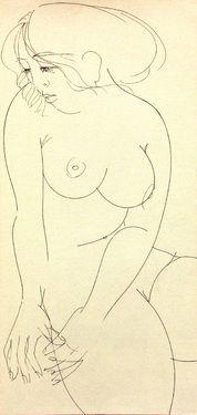 "Saatchi Art Artist Franco Fusari; Drawing, ""Daniela II #S033"" #art"