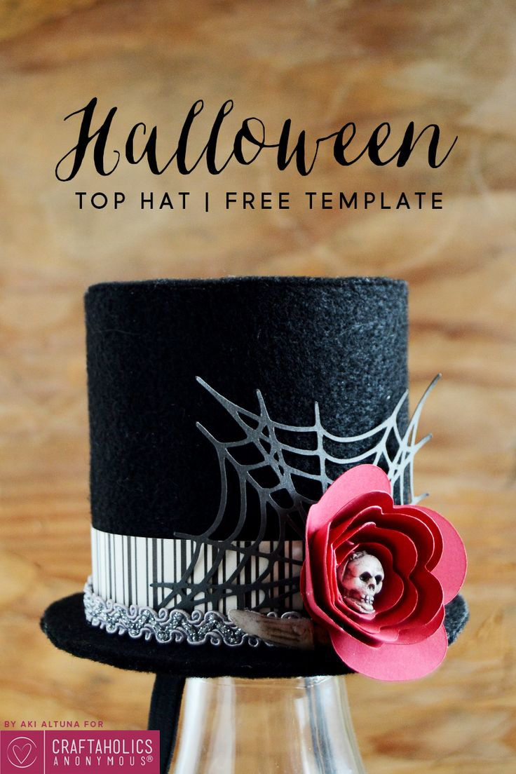 Here's another top hat idea for your #Halloween #Costume ideas! Plus it's got a #FreeTemplate too.