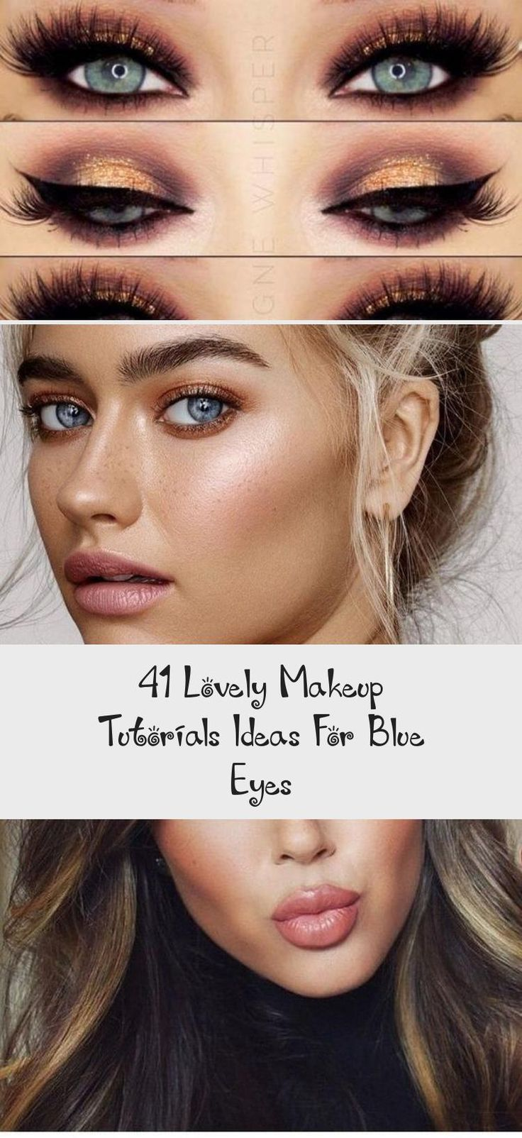 41 Lovely Makeup Tutorials Ideas For Blue Eyes Sky's