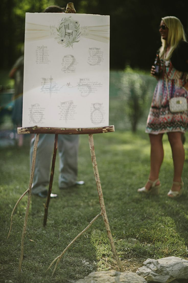 Table charts in lovely colors and calligraphy. Love those big numbers. Photo by Q Avenue Photo. By Twelve at the table. Photo by Q Avenue Photo.  http://norwegianweddingblog.blogspot.no/2014/05/superstylish-bryllup-fra-leipers-fork.html