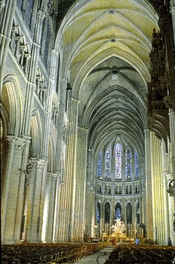 Chartres Cathedral, France - Gothic - famous for its magnificent stained glass windows - (One of National Geographic's World's 10 Best Cathedrals)