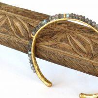 EMS2 Turkish Gilded bracelet with tourmaline $110