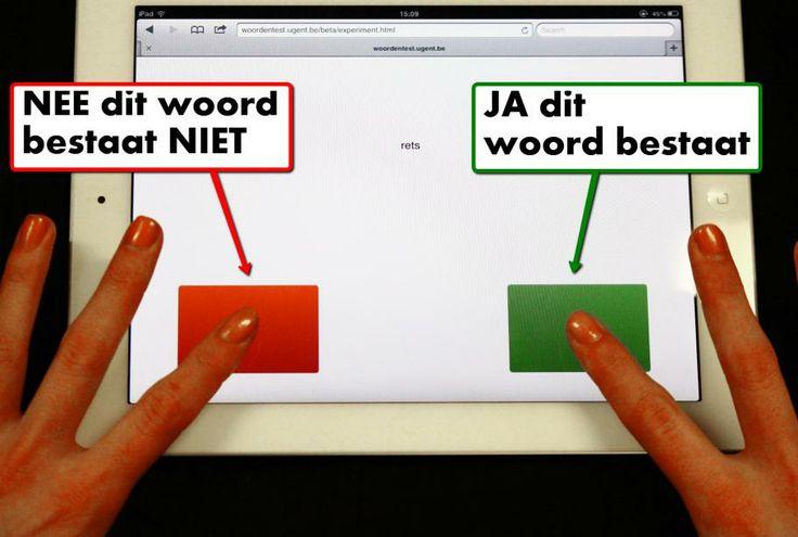 Doe mee met het groot nationaal taalonderzoek. woordentest.ugent.be