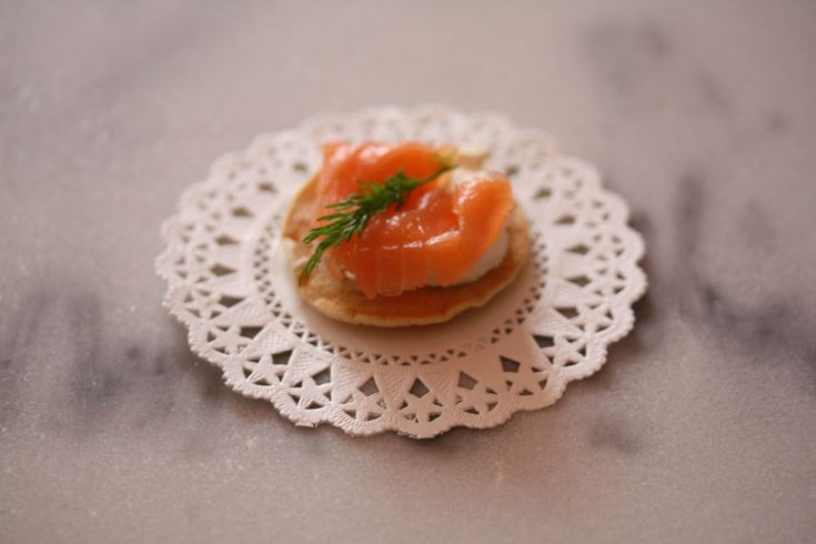 The cutest smoked salmon canape.